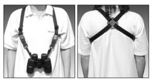 Opticron Binocular Harness - Nylon Webbing and Leather 25mm