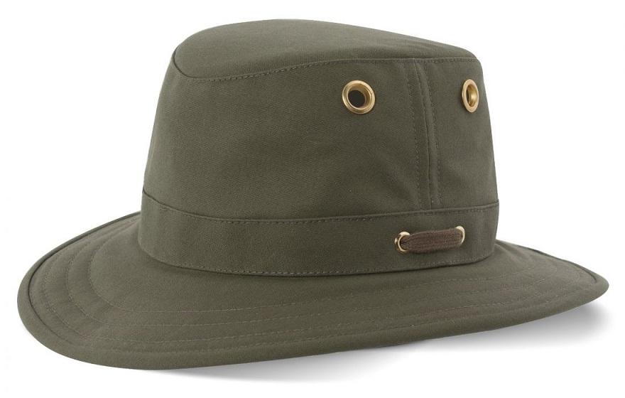 d3446a4a Tilley Cotton Duck Hat (T5) Medium Brim - Olive The Birders Store
