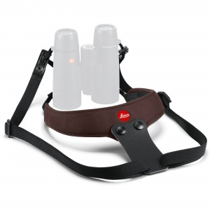 Leica Neoprene Binocular Sport Strap - Chocolate Brown